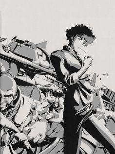 "s-c-a-n-s: ""cowboy bebop,"" – Samurai Champloo Cowboy Bebop Tattoo, Cowboy Bebop Anime, Manga Anime, Manga Art, Cowboy Bebop Wallpapers, Cowboy Bepop, Samurai Champloo, Anime Artwork, Anime Comics"