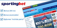 Oferta Limitata: 10 RON fara depozit la Sportingbet - Ponturi Bune