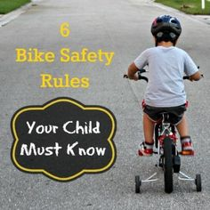 Summer is almost here! 6 Bike Safety Rules Your Child Must Know #safety #kids #tips