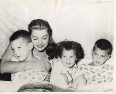 Esther Williams with her children...so sweet:)