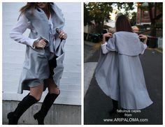 Envelope yourself with Flair. Lunar Eclipse cape from ARIPALOMA.com   #winterfashion #chic #fashion #fashioncapes #streetfashion @australianfashion #beststyle