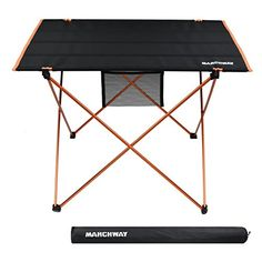camping kitchen folding table - Lightweight Folding Roll Up Camping Picnic Table, Ultralight Portable Compact for Outdoor Travel, Camp, BBQ, Beach, Tailgate Party, Hiking (Orange, Large) * Visit the image link more details. (This is an affiliate link) #aroundtheworld Camping Kitchen Table, Kitchen Table With Storage, Camping Picnic Table, Camping Cooking, Camping Hacks, Camping Drinking Games, Outdoor Travel, Compact, Bbq