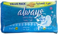 Always Pads Ultra Thin Extra Long 14 Always Pads, Maxi Pads, Bath And Body, Health, Health Care, Salud