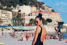 Nice beach Nice Beach, Backless, France, Fashion, Moda, Fashion Styles, Fashion Illustrations, French