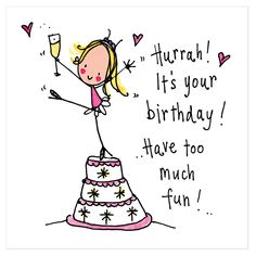 it's your birthday! have too much fun happy birthday Happy Birthday 1, Happy Birthday Wishes Cards, Happy Birthday Pictures, Birthday Blessings, Birthday Wishes Quotes, It's Your Birthday, Funny Birthday Cards, Birthday Greeting Cards, Birthday Images Funny