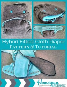 Hybrid Fitted One Size Cloth Diaper Pattern and Tutorial - Instant Download - In Depth 21 Page Step by Step