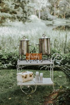 There's no limit on what you can serve as a hot drink. Fill antique canisters with your favorite warm beverage—mulled wine or cider, a favorite tea, or a hot toddy are good choices in the cooler months.