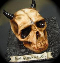 devil skull cake by debbiedoescakes, via Flickr