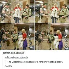 Ghostbusters and Hetalia: Strange Floating Bear