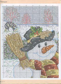 SNOWMAN cross stitch pattern. Gallery.ru / Фото #6 - ФР_12(45)_2012 г. - f-morgan