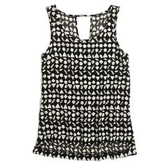 Something Else Paradox Printed Tank (Madewell)...black + white + great graphic print!