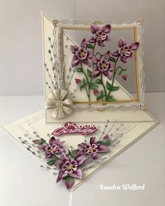 Fancy Fold Cards, Folded Cards, Acetate Cards, Flower Birthday Cards, Tattered Lace Cards, Card Making Templates, Shaped Cards, Easel Cards, Flower Making