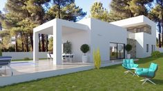 Detached, new build villa for Sale in Benissa Costa, Fanadix. This spectacular modern Villa is situated in a tranquil location, enjoying open views towards the sea.