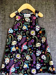 Colorful Sugar Skulls / Mexican Dia de los by DomesticThreads, $25.00