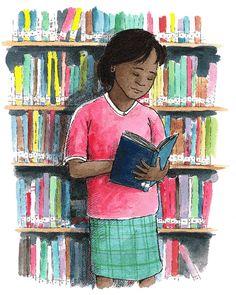 lendo na biblioteca