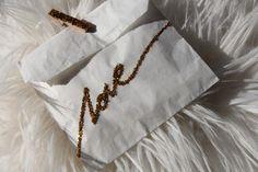 DIY 'Love' Glitter Bag l