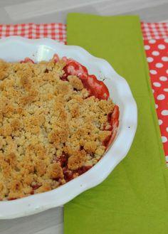 Crumble rhubarbe et fraises