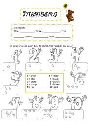 English worksheet: Numbers