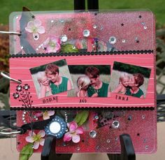 Will display my acrylic album on an easel like this.