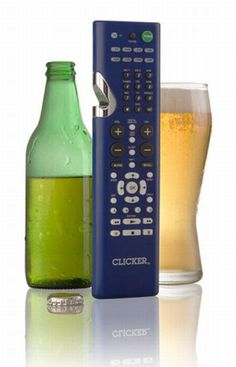 remote control bottle opener fathers day beer gadgets --omg to make my husband even more lazy Japanese Inventions, Cool Inventions, Cool Bottle Openers, Universal Remote Control, Lazy People, Beer Opener, Just For Men, Cool Gadgets, Cleaning Supplies