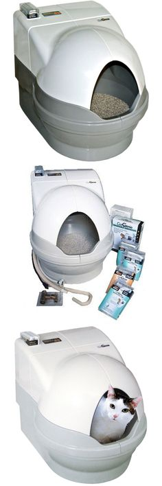 Litter Boxes 100411: Petnovations Catgenie 120 Self-Flushing Self Washing Cat Litter Box (Tuxedo) -> BUY IT NOW ONLY: $329 on eBay!