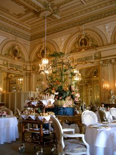 Le Louis XV Restaurant, Hotel de Paris, Monte Carlo-had a very elegant dinner there!  Restaurant features a menu inspired by the French and Italian Rivieras.