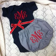 Monogrammed Baby Gift Set by ButtonsAndBritches on Etsy, $28.00