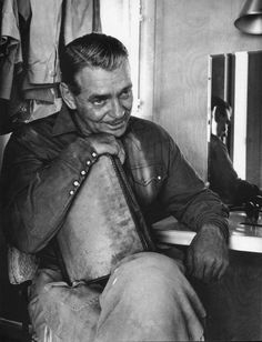 Eve Arnold: Clarke Gable on location in Nevada for...