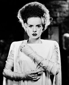 A smartypants will tell you that the name 'Frankenstein' is that of the man who made the monster, not the monster itself. This is, of course, technically true. My argument is that the Monster is definitely the offspring of Frankenstein […] Bride Of Frankenstein Costume, The Frankenstein, Classic Horror Movies, Horror Films, Gothic Movies, Horror Movie Costumes, Horror Icons, Elsa Lanchester, James Whale