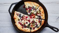 Sour Cherry and Bacon Pizza Recipe Tart cherries, bacon, ricotta, and pickled jalapeños—these are the pizza toppings we dream about. This cast-iron pizza makes the most of summer produce and satisfies your pizza craving at the same time. Pizza Recipes, Brunch Recipes, Cooking Recipes, Veggie Recipes, Dinner Recipes, Jalapeno Recipes, Bacon Recipes, Brunch Ideas, Healthy Recipes