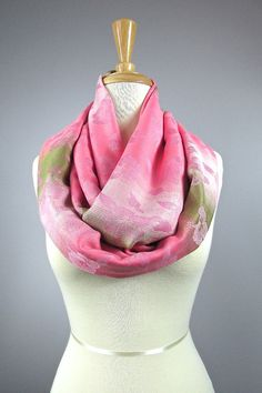 Pashmina infinity scarf TEA ROSE  ombre scarf by ScarfObsession, $27.00