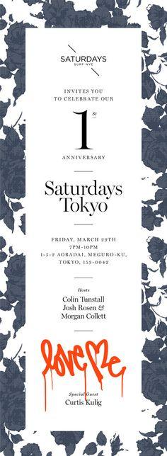 typography / background pattern / layout / Saturday's Tokyo