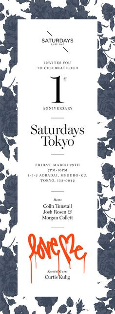 typography / background pattern / layout / Saturday's Tokyo