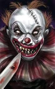 """Creepy Clown"" by GinaAmyart @ deviantart Joker Clown, Clown Horror, Creepy Clown, Arte Horror, Creepy Carnival, Dark Fantasy Art, Evil Clown Tattoos, Arte Pink Floyd, Clown Pics"