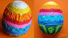 How to make a Tissue Paper Easter Eggs? DIY - YouTube
