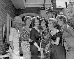 Women in Formal Wear, South Yarra, Victoria, 16 Nov 1959