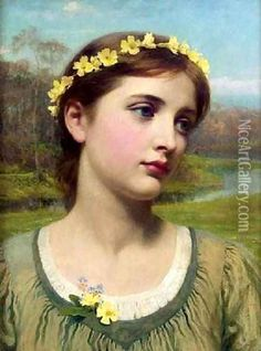 thomas francis dicksee artist | Spring Maiden Oil Painting, Sir Thomas Francis Dicksee Oil Paintings ...