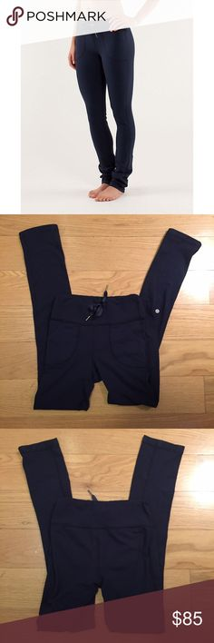 Lululemon 'Skinny Will' Pant Lululemon Skinny Will Pant. -Size 6. -Navy blue. -Skinny fit. -Excellent condition. Only flaw is some pilling in crotch area.  NO Trades. Please make all offers through offer button. lululemon athletica Pants