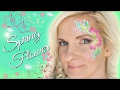EASY Spring Flower Face Painting Tutorial - YouTube