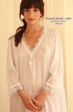 celestine night gowns   Celestine Pamela natkjole i 100% batist bomuld natkjole - one size