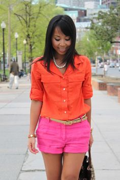 Shorts - have. Shirt - going on the list. Color blocking - needs to happen before summer ends.