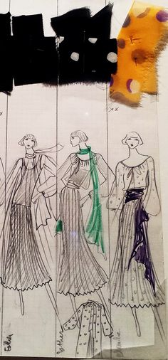 #YvesSaintLaurent's Collection Boards featuring his sketches from 1962 to 2002 that retrace 40 years of the #YSL