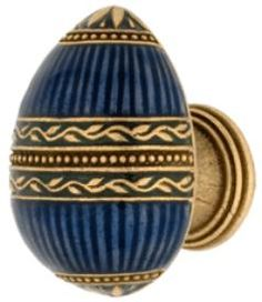 Emenee Faberge Collection Easter Egg Pendant Cabinet Knob  Russian Gold  ( 25 MINIMUM NON-RETURNABLE