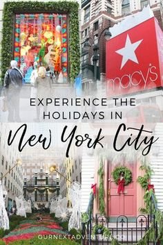 Where to experience the holiday season in New York City! #familytravel #nyc #newyorkcity // Family Travel | Travel with Kids | Christmas in NYC | Rockefeller Plaza | 5th Avenue | Macy's Santa | Christmas Markets | US Travel | United States | America | White Christmas | Holiday Travel | Winter Travel