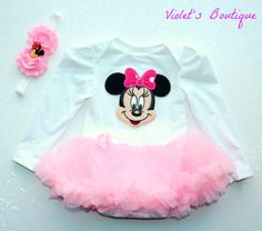Minnie mouse tutu...baby girl tutu..baby girl by organicheadbands, $31.99