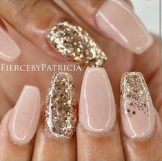 new years nails glitter / new years nails ; new years nails acrylic ; new years nails gel ; new years nails glitter ; new years nails dip powder ; new years nails design ; new years nails short ; new years nails coffin Nail Design Glitter, Pink Nail Designs, Nails Design, Nail Designs With Glitter, New Years Nail Designs, Fancy Nails, Trendy Nails, Pink Gold Nails, Nails With Gold