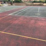 Tennis Court Painting at St. Johns College Oxford...