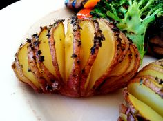 Hasselback Red Potatoes & Grilled Veggies! Gluten Free, Vegan & Body Ecology Diet friendly  glutenfreehappytummy