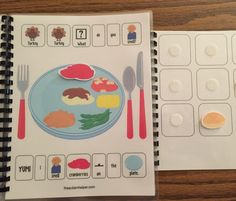 Work on Vocabulary & Sequencing with Thanksgiving Adapted Books by theautismhelper.com.