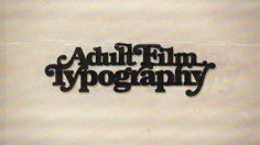 Adult film typography by SP3KTR , via Behance